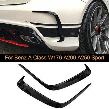 메르세데스 벤츠 A 클래스 W176 A200 A250 스포츠 A45 AMG 13-18 리어 에어 벤트 커버 카나드 ABS 용 자동차 리어 범퍼 에어 벤트 트림