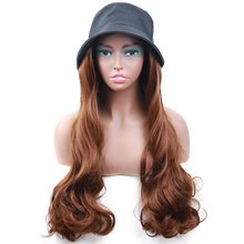Wigs Connect Hair-Wig Synthetic-Hat Adjustable for Women Dress-Up Hair-Naturally Fisherman