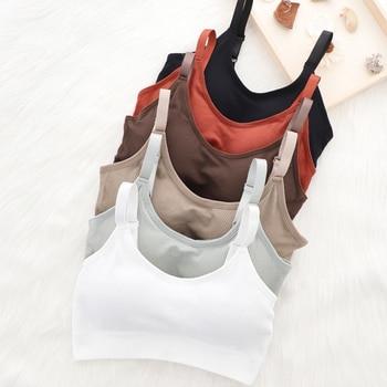 Sports Yoga Bra Women Seamless Padded Sports Bra Fitness Running Gym Bra Sports Underwear Push Up Sport Bra for Cup A B 1