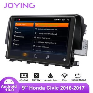 Image 3 - 9inch Android10 Car Radio for Honda Civic 2016 2019 Left/Right Drive GPS DSP Carplay SPDIF Subwoofer DAB Android auto 5GWIFI DAB