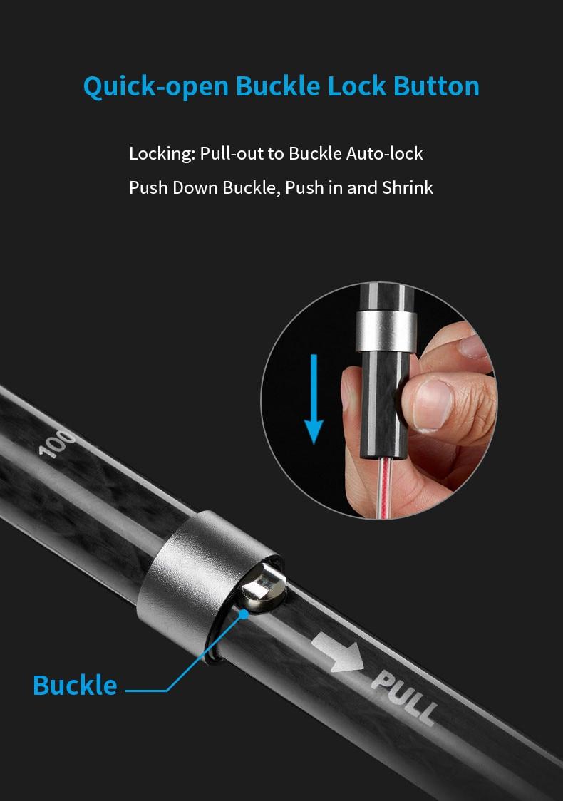 5-seção dobra bengala trekking pólo externamente bloqueado telescópica caminhadas vara