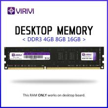 Memória ram de desktop virivi ddr3, 4gb 8gb 1333 1600 1866mhz 240pin 1.5v amd/intel kit de placa-mãe de cpu central de dimm,