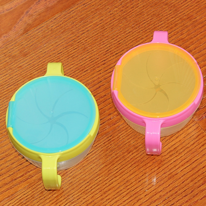 Baby Spill-Proof Bowl Dish Infant Snack Bowls Food Container Feeding Assist Food U50F