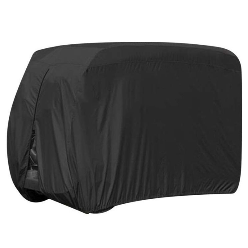 Waterproof Dust Prevention Golf Cart Cover For 4 Passenger EZ GO Club Car Yamaha Golf Carts Black