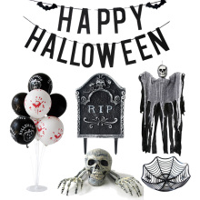 цена на Halloween Garden Decoration Skull Skeleton Tomb Tombstone Horrible Ghost Hanging Skull Haunted House Decor Halloween Decoration