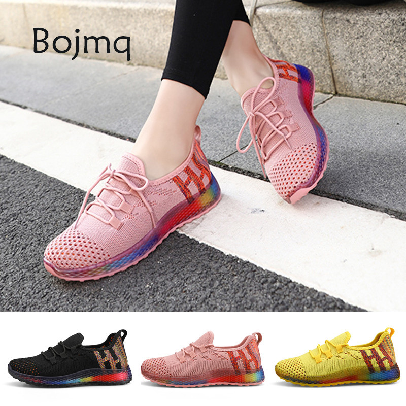 Bojmq Tenis Mujer 2020 New Arrived Women Tennis Shoes Ladies Pretty Outdoor Walking Sneakers Female Non-slip Fitness Sport Shoe