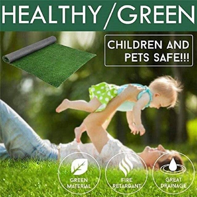 La pelouse de plante verte en plastique de pelouse artificielle de 2x5M convient à la décoration de jardin