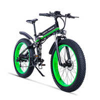 26inch electric mountain bike 750w fat ebike 4.0snow wide tire fold electric bicycle 48v lithium battery hidden in frame EMTB