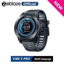 Zeblaze reloj inteligente VIBE 5 PRO, dispositivo con pantalla táctil a Color, control del ritmo cardíaco y multideportes, notificaciones WR IP67