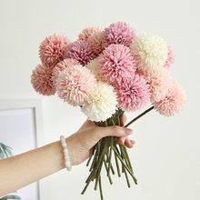 1/3/5PcsBunch sztuczny bukiet kwiatów jedwabny kwiat mniszka piłka sztuczne kwiaty DIY Home Widding dekoracje prezenty walentynkowe