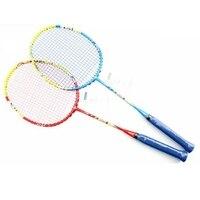 Raquete de badminton 4u carbono com corda e overgrip raquette super leve g5 para crianças