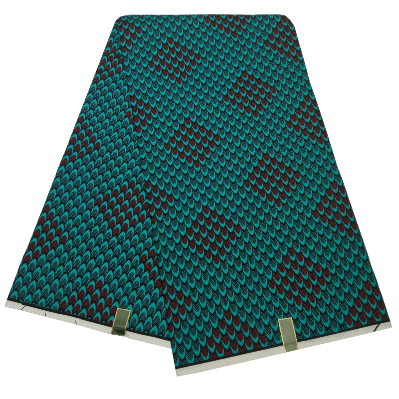 Green Scale Prints High Quality Europe And American Fashion Fabrics Ankara Textiles For Lady