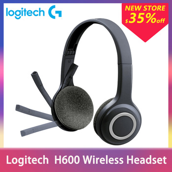 Logitech H600 Wireless Headset With Noise Canceling MIC Nano Portable Gaming Stereo Headphones with microphone For PC Win MAC OS