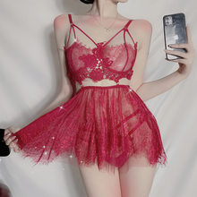 Sexy Lingerie Porno Set Pajamas Eductive Miniskirt Summer Tease Lace Nightdress Cute Lingerie Erotic Sexy Dress For Sex