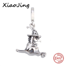 charms silver 925 original Antique Witch Animal shape charms fit Bracelet Pandora Pendant Beads making Jewelry for women Gifts hot sale animal fish with color cz pendant charms beads fit pandora bracelet 925 silver original jewelry making for women gifts