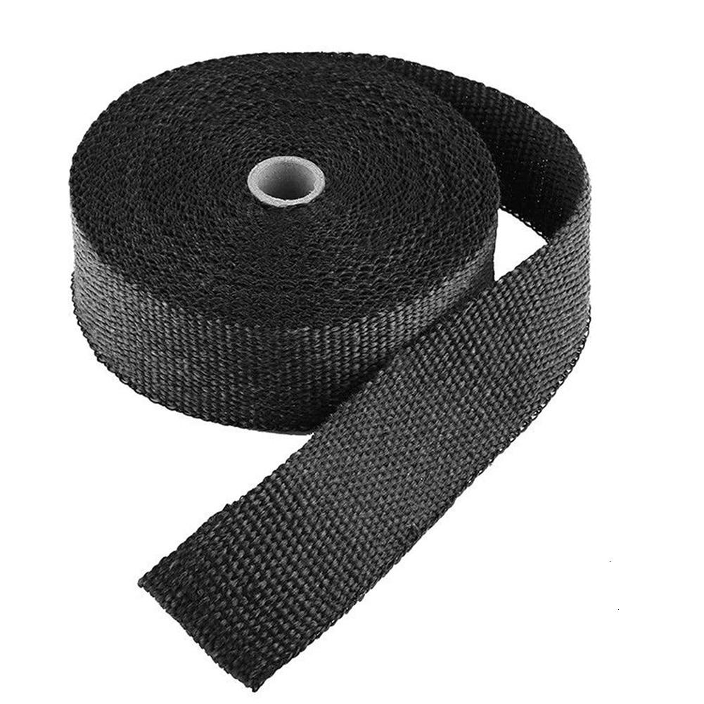 1/5/10M Car Moto Heat Shield Wrap Turbo Exhaust Tape Pipe Manifold Header Insulation Cloth Roll Fiberglass Resistant Thermal