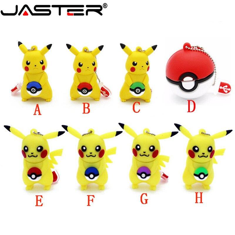 JASTER New Fashion Creative Cartoon Pikachu Daquan Series USB Interface 2.0 Memory Stick 4GB / 8GB / 16GB / 32GB
