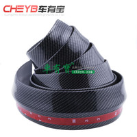 66 Size Car 3D Carbon Fiber Pattern Thick Widened Front Shovel Modification Small Surrounded Carbon Fiber Pattern Front Lip Side