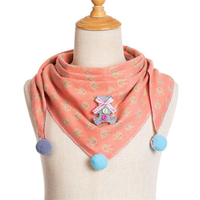 Весенние клетчатые треугольные шарфы в горошек для маленьких девочек; осенне-зимняя шаль для мальчиков и девочек; Детские хлопковые воротники; теплый детский шейный платок - Цвет: A3