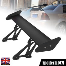 1pc 43Inch 110CM Universal Aluminum Adjustable Light Weight GT Rear Racing Spoiler Wing Black for Car Exterior Parts