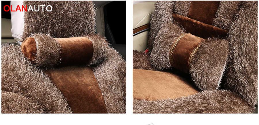 Evrensel kış peluş araba klozet kapağı sıcak yün koltuk minderi Hyundai solaris için ix35 i30 ix25 Elantra accent tucson Sonata otomatik