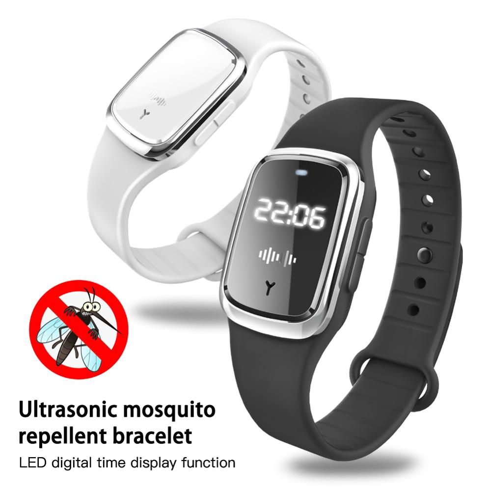 Portable Electronic Mosquito Repellent Bracelet Waterproof Watch Anti Mosquito Repellent Wristband Pregnant Kids Mosquito Killer