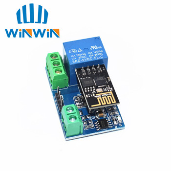 10pcs ESP8266 5V WiFi Relay Module Things Smart Home Remote Control Switch Phone APP aokin esp8266 esp 01s 5v wifi relay module things smart home remote control switch for phone app esp01 relay module