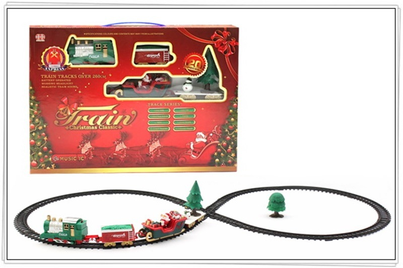 Children Model Electric Sound-And-Light Rail Train Classical Model Small Train Vintage Steam Train Toy