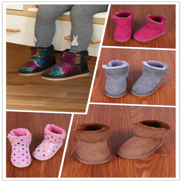 Children's Snow Boots Winter Fur Baby Cotton Shoes Warm Boys And Girls Boots  Baby Girl Winter Boots
