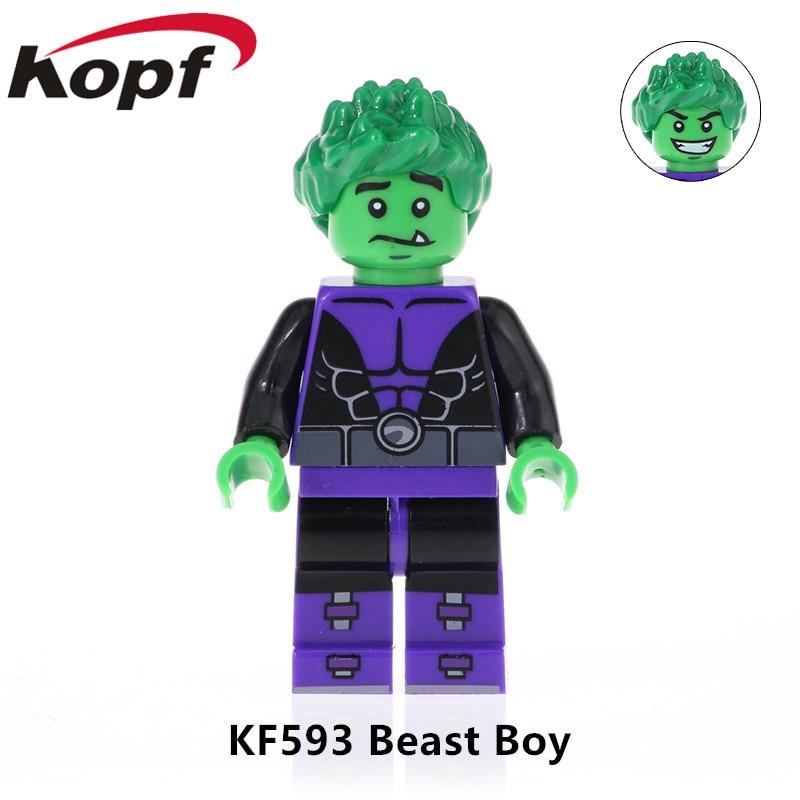 Image 5 - 5Pcs/Set KF6049 Building Blocks Teen Titans Series Figures Robin Raven Cyborg Beast Boy Model Action Bricks For Children Toys-in Blocks from Toys & Hobbies