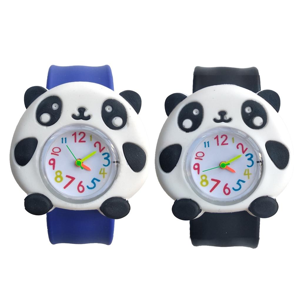 Slap On Hand Wrist Watch Children Cartoon Panda Toys Kids Quartz Watches For Boys Girls Christmas Gifts Baby Child Digital Watch