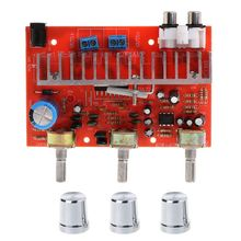 40W TDA7377 Stereo Dual-channel Audio Power Amplifier Board Treble Bass Adjustable 2019 fx audio new tube 03 mini audio tube pre amps dac audio with bass treble adjustable dc12v 1 5a power supply