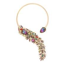 Женское Ожерелье в стиле панк с радужными кристаллами