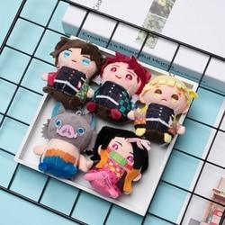 Anime Demon Slayer: Kimetsu No Yaiba Kamado Tanjirou Tomioka Giyuu Agatsuma Zenitsu Plush Doll Q Version Figure Model Movie Toys
