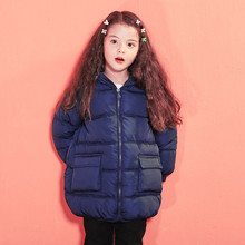цена на New Girl Hooded Warm Long Down Cotton Jackets Coat Toddler Girl Winter Clothes Baby Boys Jackets Kids Outerwear Children Clothes