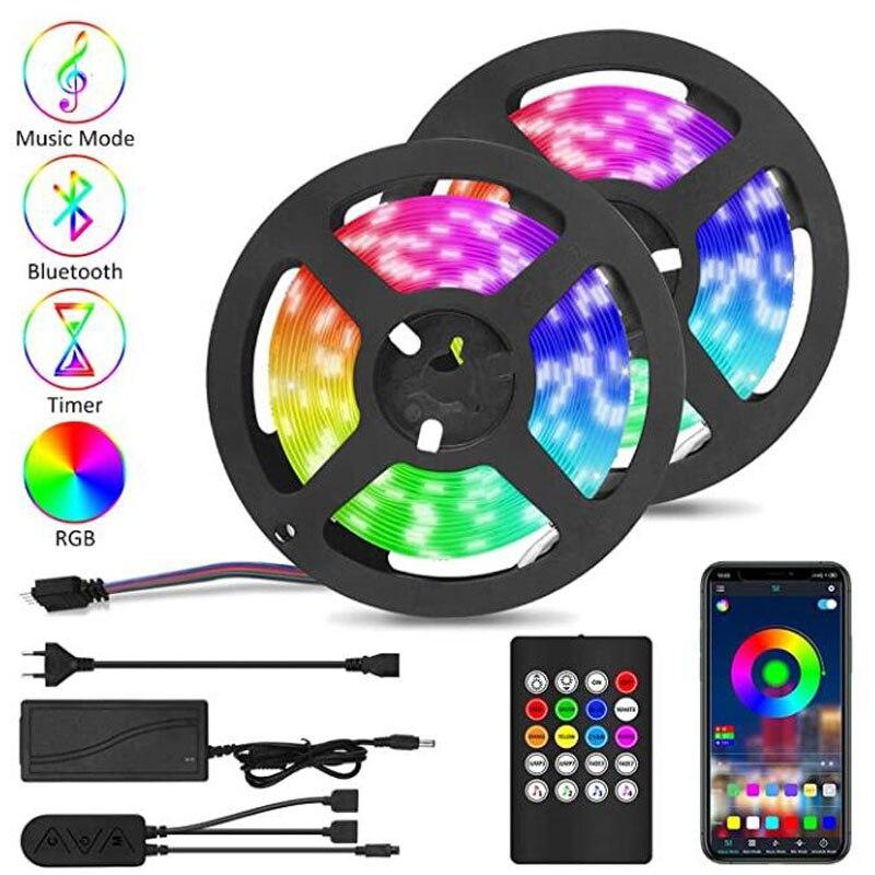 Bluetooth RGB светодиодный 5 м 10 м Смарт 5050 светодиодный 12 В
