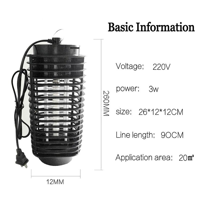 US/EU Plug LED Mosquito Killing Lamp Electric Bug Zapper Anti-Mosquito Light Insect Trap Pest Control For Home Bedroom Outdoor