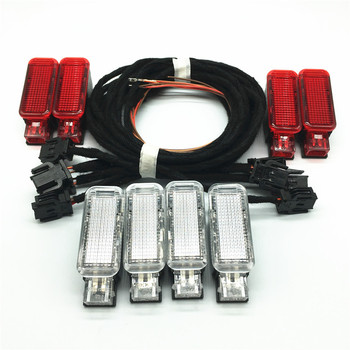 Красный/белый автомобильный светильник для внутренней двери, предупреждающий светильник, кабель, жгут проводов для A3 A4 A5 A6 A7 A8 Q3 Q5 Q7 TT 8KD947411 8KD...