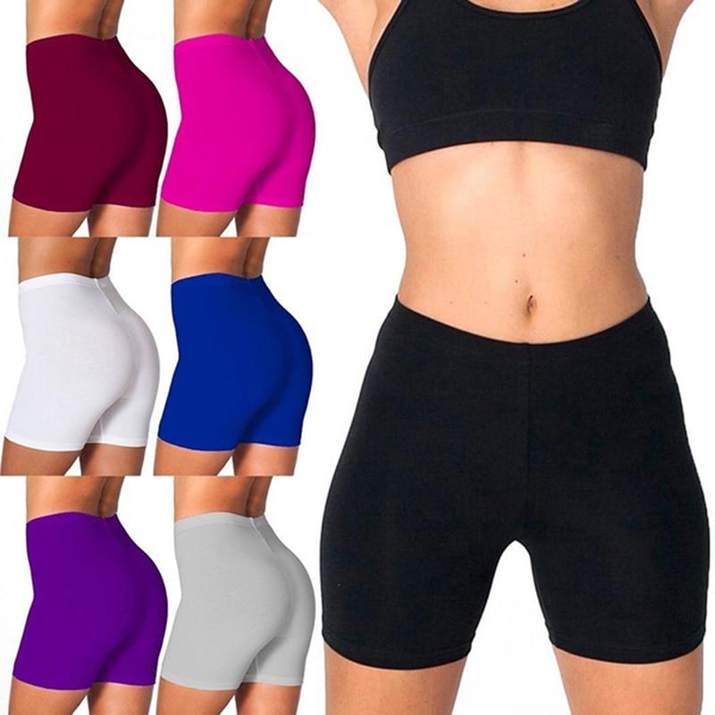 Women Shorts Casual Women High Waist Fitness Sports Biker Shorts Summer Skinny Soft Elastic Bottom Fashion Stretchy Solid Shorts