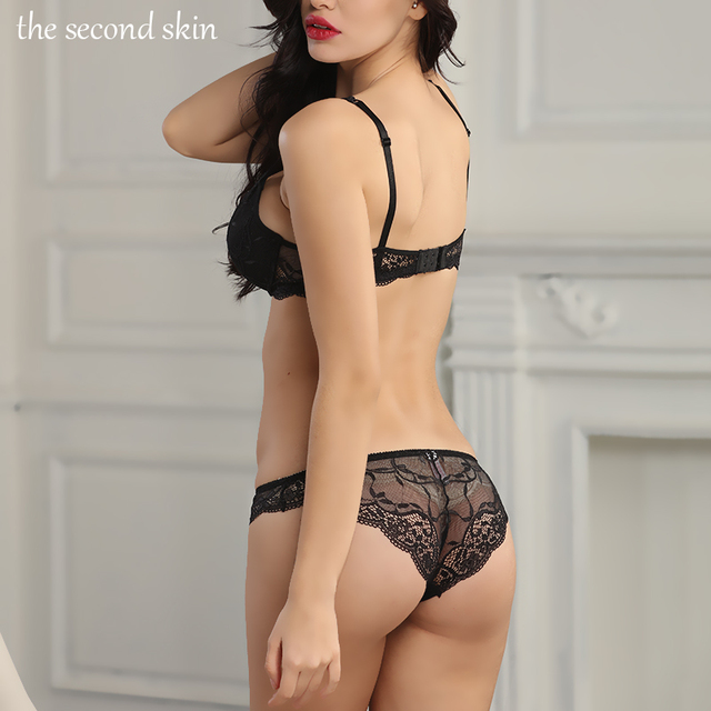 Hot Lace Push Up Bra Set Women's Plus Size