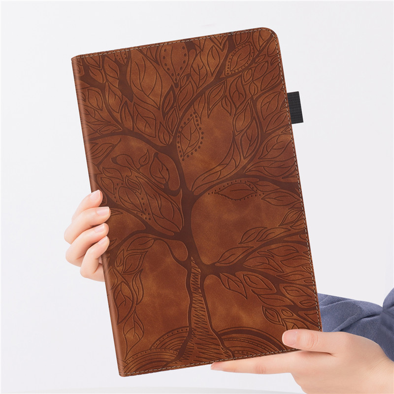 Emboss Tree PU Leather Flip Case for Funda iPad Pro 11 2020 Case Wallet Stand Tablet