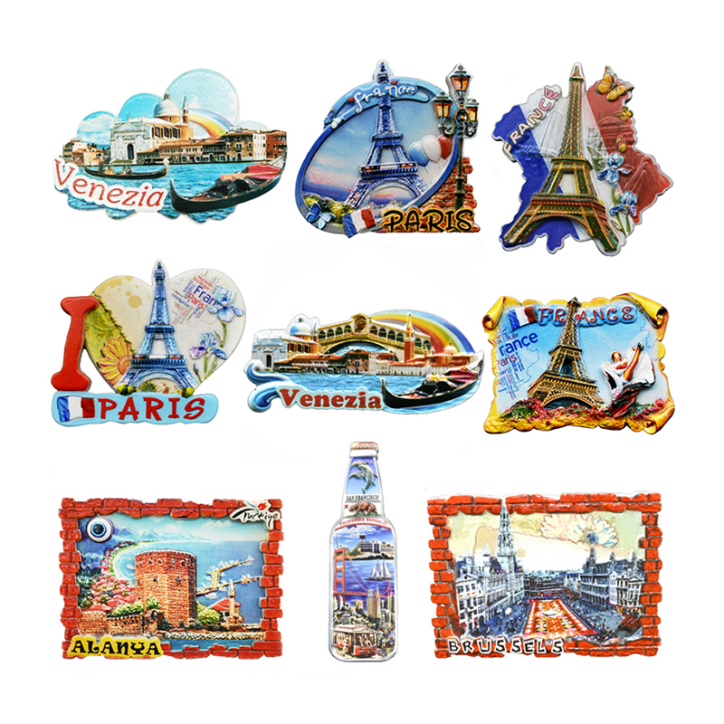 Souvenir Fridge Magnets Country Paris Resin Refrigerator Sticker Travel Turkey Italy Souvenir Magnets For Fridges Greece Tourist