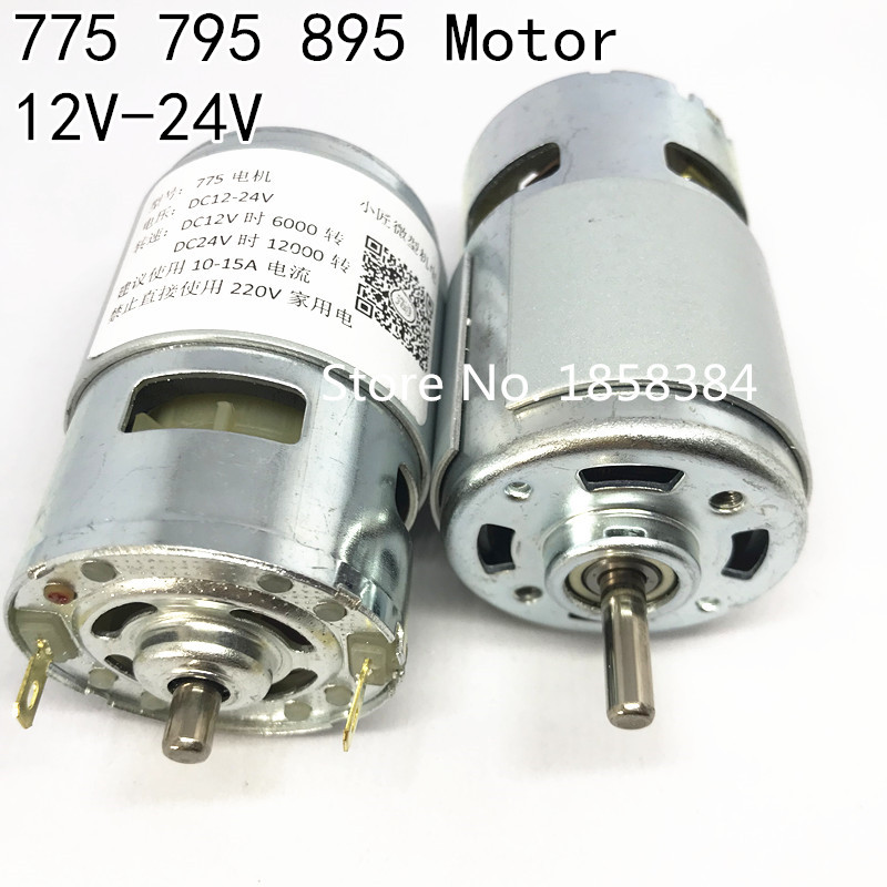DC 12V-24V 3000-12000RPM 775//795//895 Motor Motor Bracket Large Torque Gear Motor