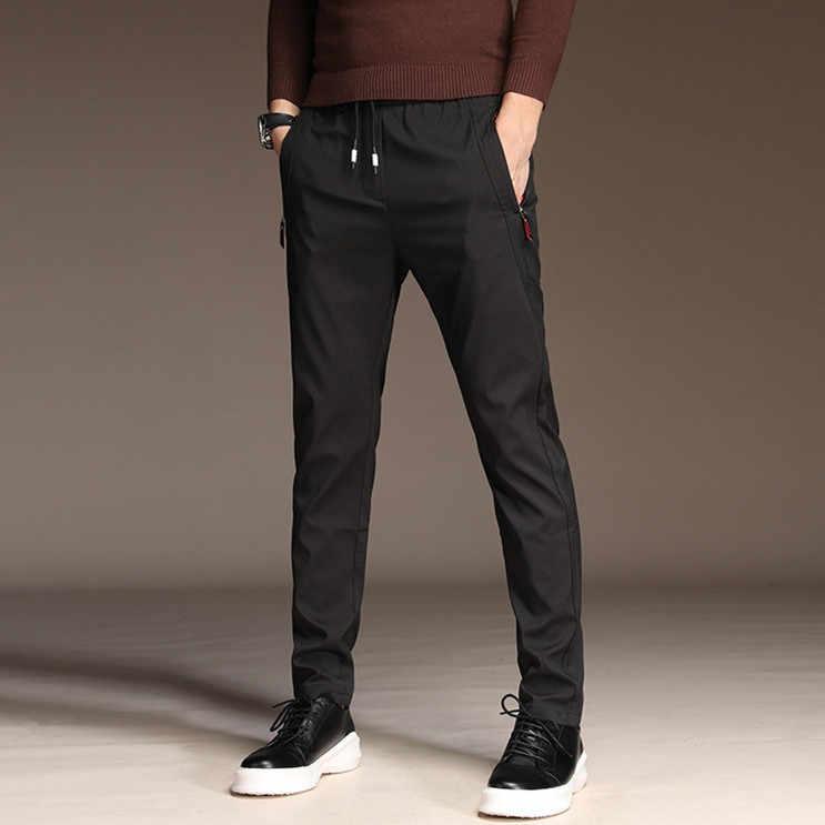 MRMT 2019 브랜드 남성 얇은 바지 남성 바지 바지 남성 캐주얼 스트레이트 통기성 남성 의류 트랙 조깅 남자 바지