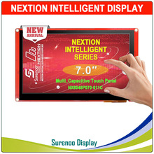 "7.0 ""NX8048P070 Nextion Intelligente Hmi Usart Uart Seriële Tft Lcd Module Display Resistive Of Capacitieve Touch Panel Voor Arduino"