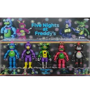 Image 5 - Figurines de cinq nuits à freddys, jouet figurines en PVC Foxy Fazbear FNAF, jouet pour cadeau de journée de lenfance, nouveauté