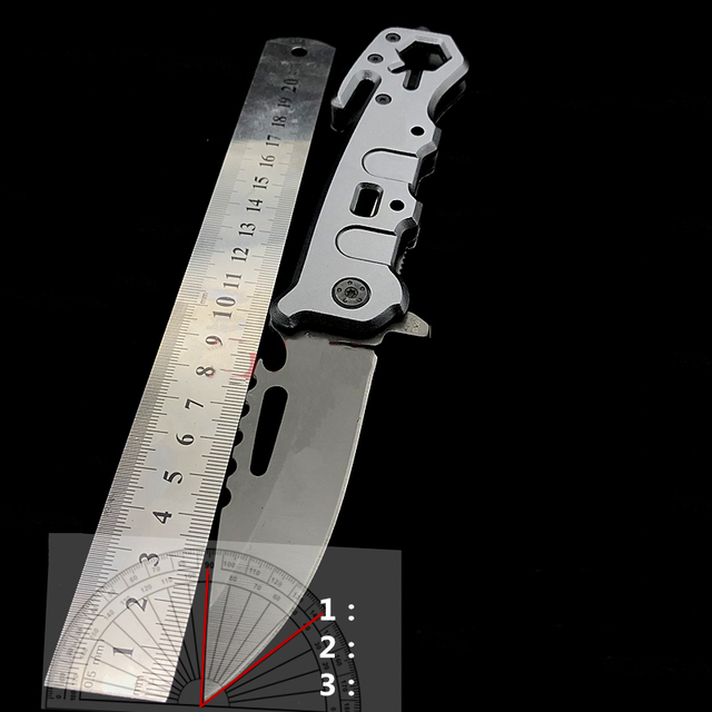 Titanium Ion Multi-function Folding Knife Outdoor Camping Hunting Rescue Window Breaker High Hardness Tactical Folding Knife 5