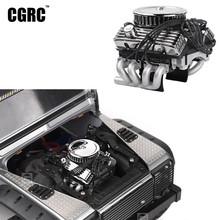 Classic V8 F82 Simulated Engine Motor Fan Radiator For 1/10 RC Crawler Car Traxxas TRX4 SCX10 Rc4wd D90 VS4 Upgrade(China)