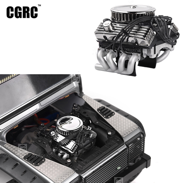Classic V8 F82 Simulated Engine Motor Fan Radiator For 1/10 RC Crawler Car Traxxas TRX4  SCX10 Rc4wd D90 VS4 Upgrade