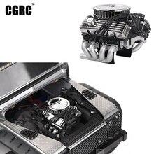 Klasik V8 F82 simüle Motor Motor Fan radyatör için 1/10 RC paletli araba Traxxas TRX4 SCX10 Rc4wd D90 VS4 yükseltme